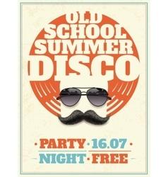 Sunglasses retro poster vector