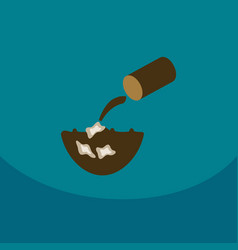 trash floating in the water line icon for web vector image vector image