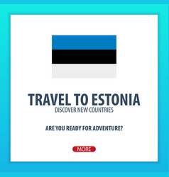 travel to estonia discover and explore new vector image