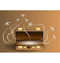Travel with suitcase vector