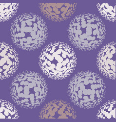 ultra violet halftone circles seamless pattern vector image vector image