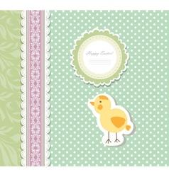 Vintage doodle baby bird chicken vector image vector image