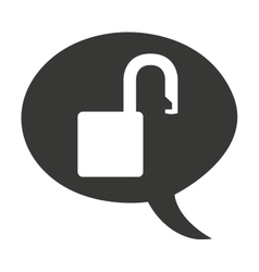 Safe padlock secure icon vector