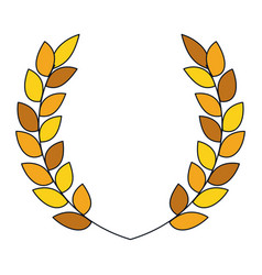 Wreath leafs isolated icon vector