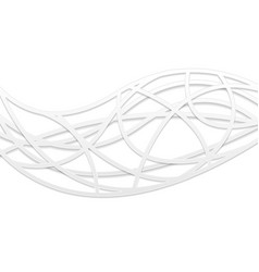 Abstract white corporate wavy pattern vector