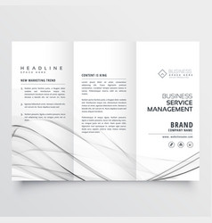 Minimal tri fold brochure design template for vector