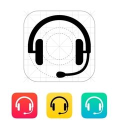 Headset icon vector