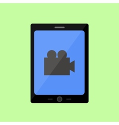 Flat style touch pad with video vector