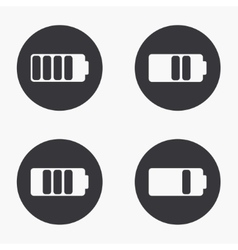 modern battery icons set vector image