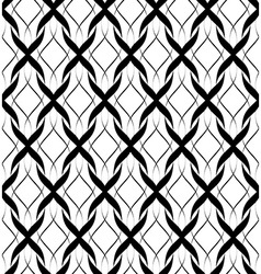 Black and white seamless pattern twist line style vector