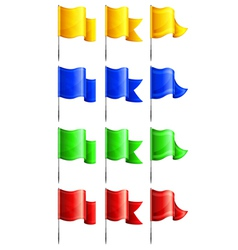 flags four colors three options vector image