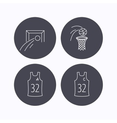 Football basketball and team captain icons vector