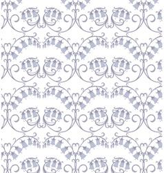 flowers hand-bells vector image