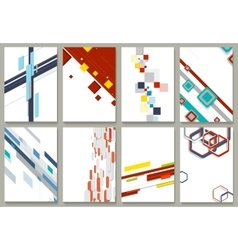 Abstract minimal geometric backgrounds set vector image vector image