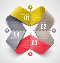 Abstract shape with infographics elements vector image vector image