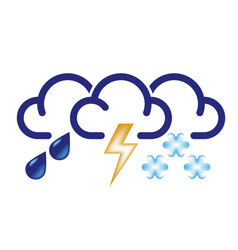 all bad weather icon vector image vector image