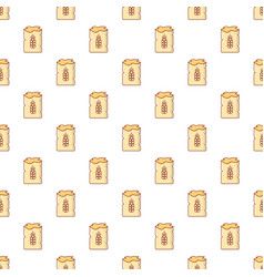 Bag of wheat pattern seamless vector