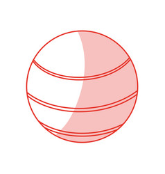 Ball sport shadowflat vector