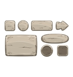 Cartoon stone game assets set vector