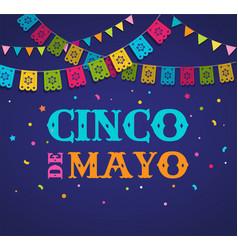 cinco de mayo - may 5 federal holiday in mexico vector image