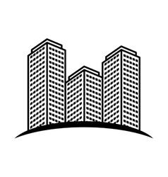 city building icon image vector image