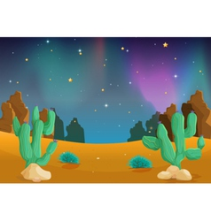 Desert at night vector image vector image