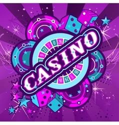 emblem gambling casinos vector image