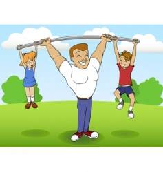 family sports vector image vector image
