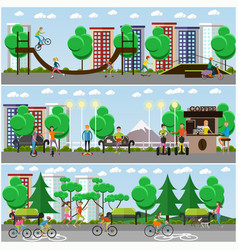 Flat means of transport concept posters vector
