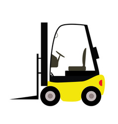 Fork lift truck in trendy flat style isolated on vector
