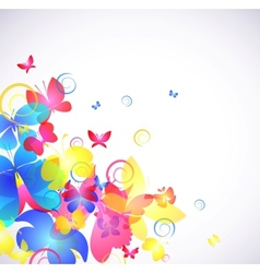 Glowing abstract background with butterfly vector image vector image