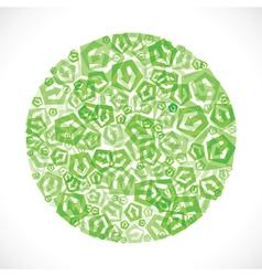 Green small arrow icon design stock vector image vector image