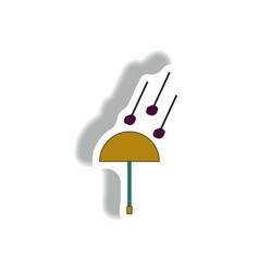 Hail and umbrella sticker vector