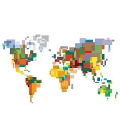 many-colored world vector image