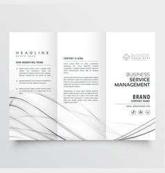 Minimal tri fold brochure design template for vector