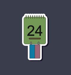 Paper sticker on stylish background calendar vector