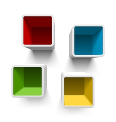Retro cube shelves vector image