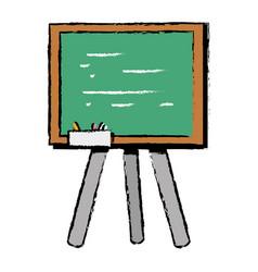 school blackboard with wood frame design vector image