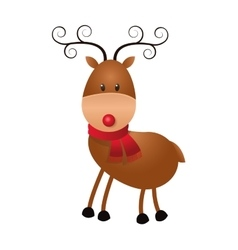 Single reindeer icon vector