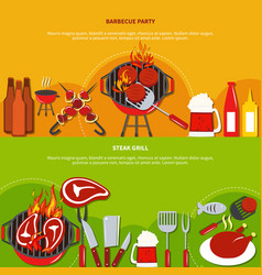 steak grill on barbecue party vector image