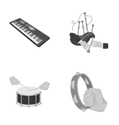 Synthesizer melodies bagpipes scotch and other vector