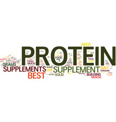 The best protein supplement usage text background vector