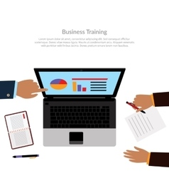 Workspace Business Training vector image