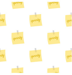 yellow sheet of paper for notes pattern seamless vector image vector image