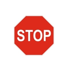 Stop sign icon in flat style vector image