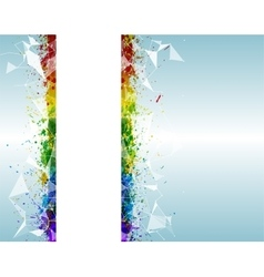 Paint splashes triangular background for poster vector