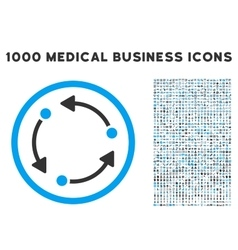 Rotate icon with 1000 medical business pictograms vector