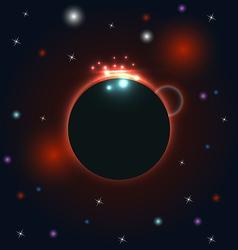 Abstract circular cosmos galaxy design vector