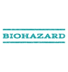 Biohazard watermark stamp vector