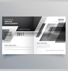 Black and white theme stylish magazine booklet vector